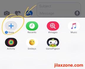 Download and Use iMessage Sticker jilaxzone.com click the store