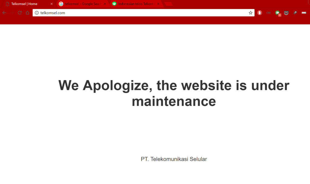 telkomsel hack jilaxzone.com telkomsel website under maintenance