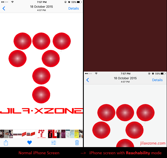 iPhone Reachability jilaxzone.com double tap home button result