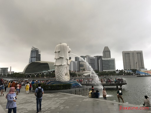 SG Singapore jilaxzone.com Merlion Statue at Marina Bay