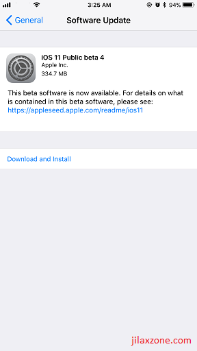 iOS 11 Public Beta 4 jilaxzone.com