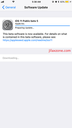 iOS 11 Public Beta 5 jilaxzone.com download