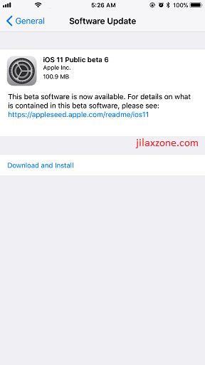 iOS 11 Public Beta 6 jilaxzone.com download