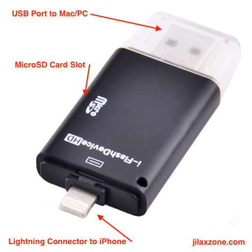 Save hundred dollars when buying iPhone jilaxzone.com OTG MMC External Memory Card