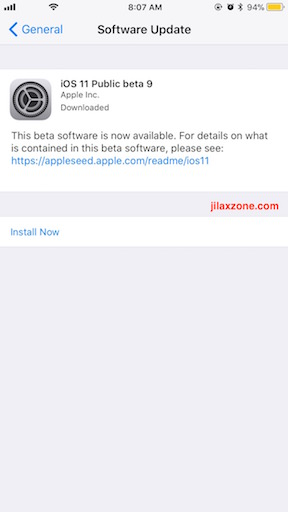 iOS 11 Public Beta 9 download jilaxzone.com