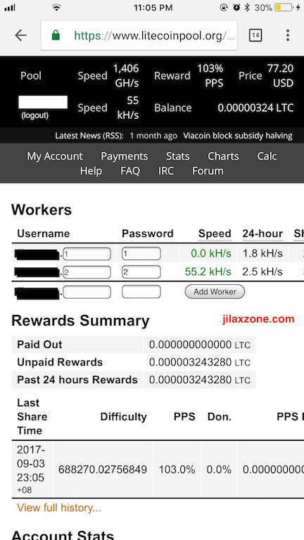 CryptoCurrency Mobile Mining using Android ilaxzone.com LiteCoinPool.org