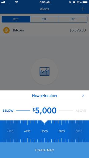 Coinbase app jilaxzone.com bitcoin create alert