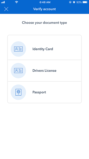 Coinbase app jilaxzone.com bitcoin verify identity
