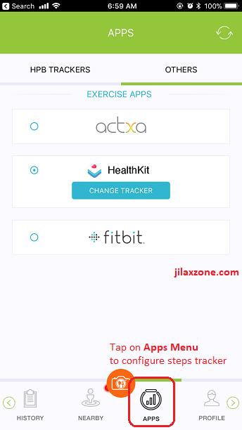 HPB Healthy 365 app jilaxzone.com configure steps tracker