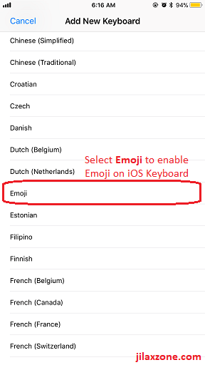 iOS 11 new emoji jilaxzone.com enable emoji keyboard