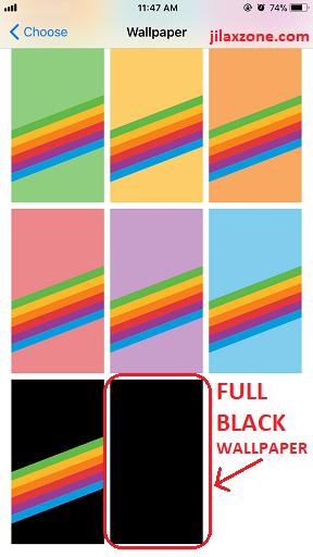 iPhone X jilaxzone.com Full Black Wallpaper Good for OLED screen