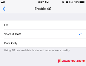 iPhone X jilaxzone.com enable 4G LTE