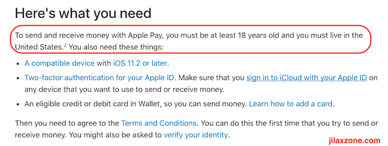 Apple Pay Cash jilaxzone.com Apple Support Page for Apple Pay Cash