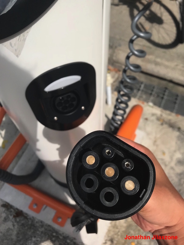BlueSG Electric Car SG jilaxzone.com Charging Port and Cable