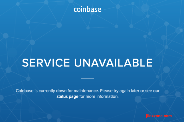 Coinbase website is down jilaxzone.com