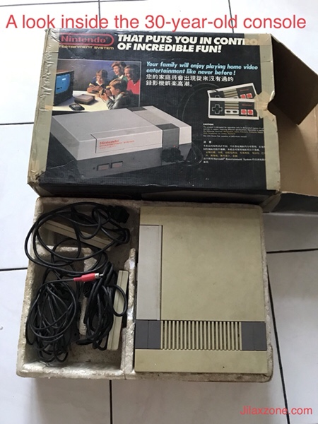 Nintendo NES Jilaxzone.com Inside the box