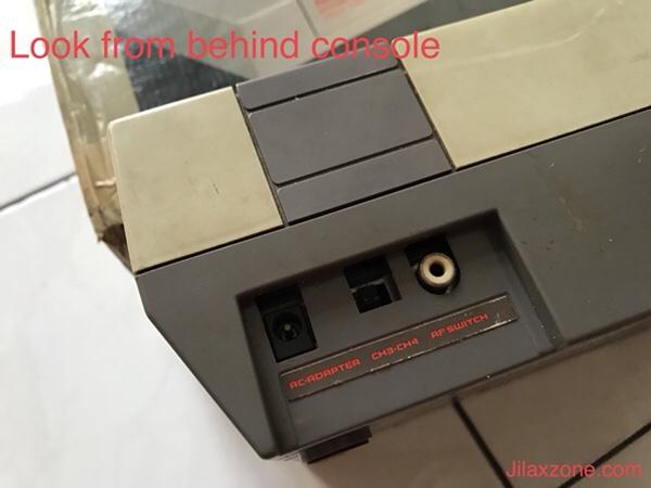 Nintendo NES Jilaxzone.com console behind view
