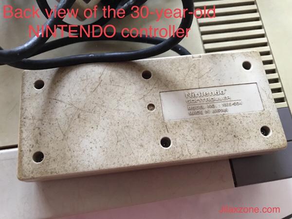 Nintendo NES Jilaxzone.com controller back look