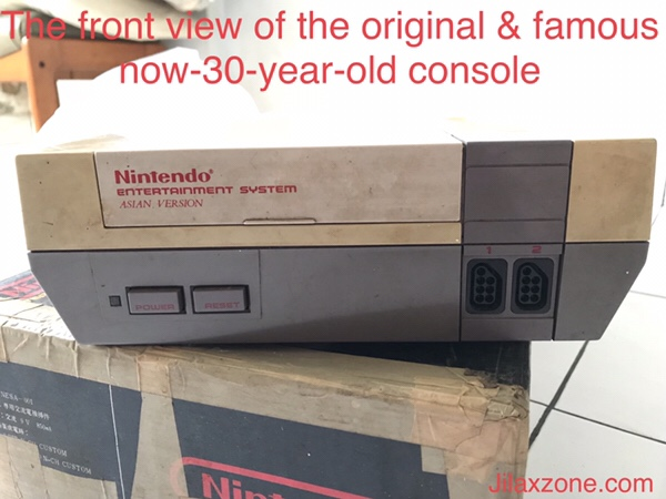 Nintendo NES Jilaxzone.com front look of NES console