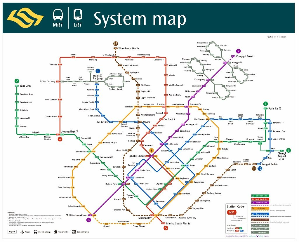 Alternative Ways to Changi Airport jilaxzone.com Singapore MRT Map Nov 2017