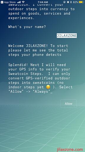 Sweatcoin jilaxzone.com GPS access