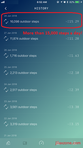Sweatcoin jilaxzone.com Reach more than 15k steps a day