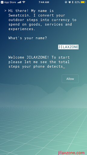 Sweatcoin jilaxzone.com register username