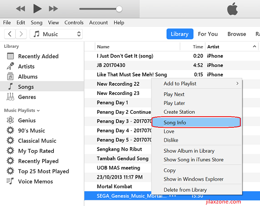 create custom iPhone Ringtone jilaxzone.com trim the song