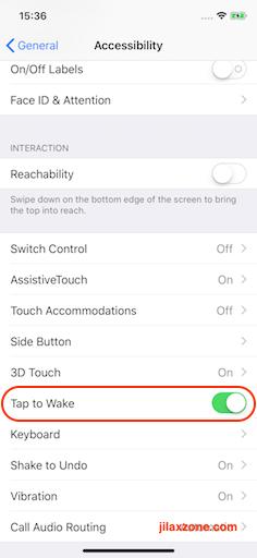 iPhone X Tap to Wake jilaxzone.com turn OFF tap to wake