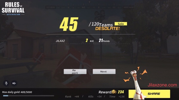 Rules of Survival Jilaxzone.com More kills more points more upgrades