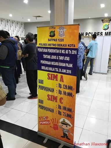 Biaya Perpanjang SIM Kota Bekasi jilaxzone.com