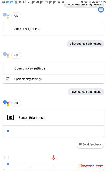 DIY Smart Speaker jilaxzone.com Google Assistant adjusting screen brightness