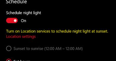 Windows 10 Night Light jilaxzone.com Customize Night Light Settings