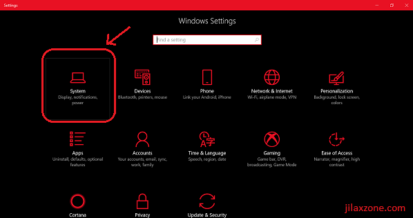 Windows 10 Night Light jilaxzone.com System and Display