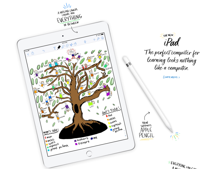 Apple Education Event New iPad support Apple Pencil jilaxzone.com