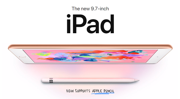 Apple new 9.7 inch iPad now supports Apple Pencil jilaxzone.com