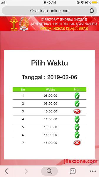 Antrian Paspor Bekasi Pilih waktu jilaxzone.com