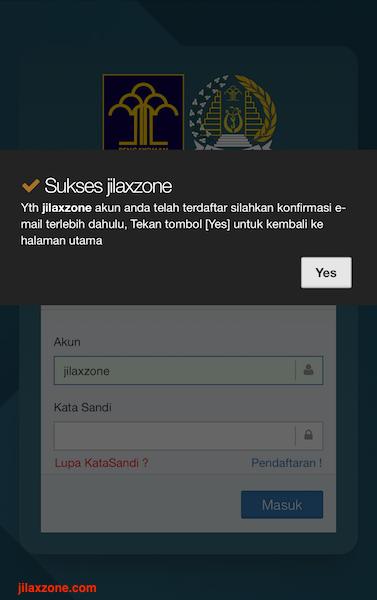 Aplikasi Antrian Paspor Online jilaxzone.com Registrasi Berhasil
