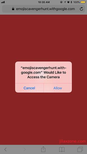 Google Emoji Scavenger Hunt Game jilaxzone.com Access to Camera