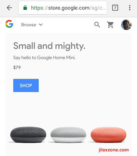 Google Store Singapore and South East Asia jilaxzone.com Google Home Mini Smart Speaker 2