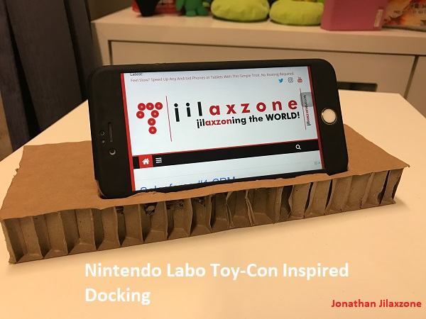 Nintendo Labo for smartphone jilaxzone.com docking