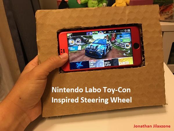 Nintendo Labo for smartphone jilaxzone.com steering wheel
