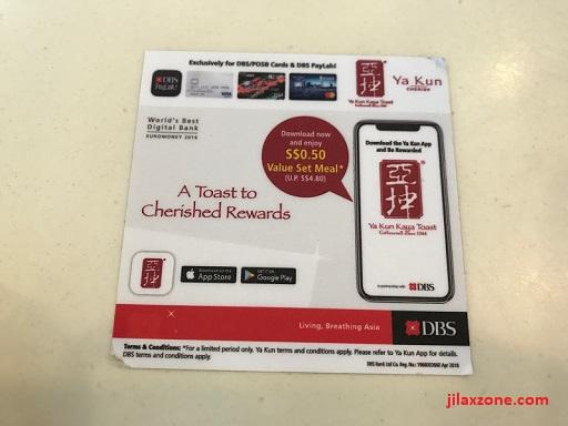Yakun Kaya Toast Promotion jilaxzone.com 50 cents promo