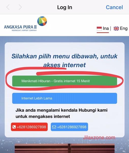 Free WiFi at Soekarno-Hatta Airport Jakarta