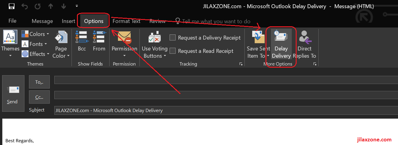 Microsoft Outlook Delay Delivery jilaxzone.com
