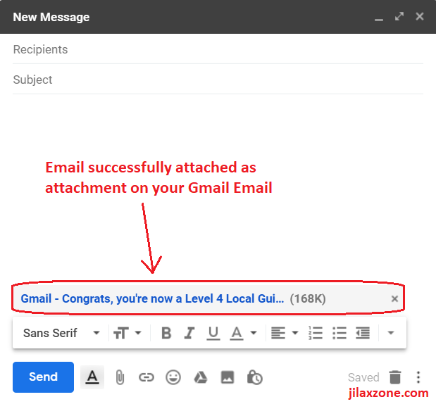 attach email on gmail finish attaching jilaxzone.com