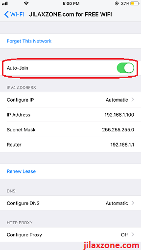 iOS WiFi Auto Join Fix WiFi Keeps Reconnecting jilaxzone.com