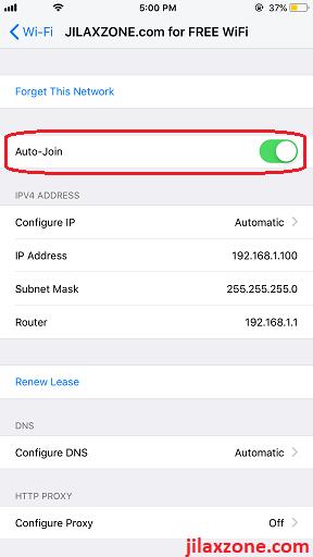 iOS WiFi Auto Join Fix WiFi Keeps Reconnecting jilaxzone.com