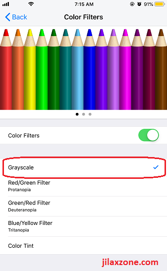 ios tweak display accommodaion color filters jilaxzone.com