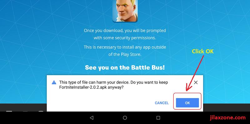 Fortnite Android FortniteInstaller apk jilaxzone.com